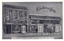 res050021 - Cavanagh's Restaurant, New York City, NYC Postcard Post Card USA Old Vintage Antique