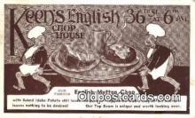 res050035 - Keen's English Chop House Restaurant, New York City, NYC Postcard Post Card USA Old Vintage Antique