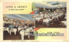 res050043 - Leon & Eddie's Restaurant, New York City, NYC Postcard Post Card USA Old Vintage Antique