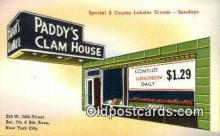 res050045 - Paddy's Clam House Restaurant, New York City, NYC Postcard Post Card USA Old Vintage Antique