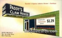 res050046 - Paddy's Clam House Restaurant, New York City, NYC Postcard Post Card USA Old Vintage Antique