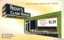 res050047 - Paddy's Clam House Restaurant, New York City, NYC Postcard Post Card USA Old Vintage Antique