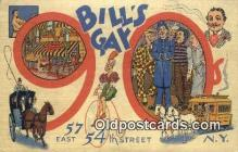 res050056 - Bill's Gay Nineties Restaurant, New York City, NYC Postcard Post Card USA Old Vintage Antique