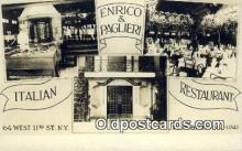res050068 - Enrico & Paglieri Italian Restaurant, New York City, NYC Postcard Post Card USA Old Vintage Antique