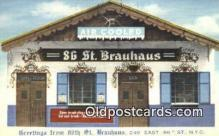 res050141 - 249 East, 86th St. Brauhaus Restaurant, New York City, NYC Postcard Post Card USA Old Vintage Antique