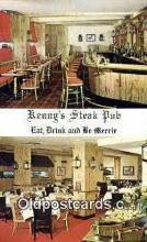 res050176 - Kenny's Steak Pub Restaurant, New York City, NYC Postcard Post Card USA Old Vintage Antique