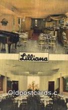 res050183 - Lilliana Restaurant Restaurant, New York City, NYC Postcard Post Card USA Old Vintage Antique