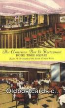 res050185 - American Bar & Restaurant, New York City, NYC Postcard Post Card USA Old Vintage Antique