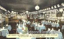 res050204 - Joe King's Rathskeller Restaurant, New York City, NYC Postcard Post Card USA Old Vintage Antique