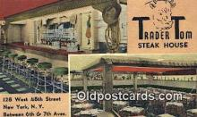 res050223 - Linen, Trader Tom Steak House Restaurant, New York City, NYC Postcard Post Card USA Old Vintage Antique