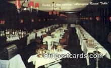 res050227 - Algonquin Restaurant, New York City, NYC Postcard Post Card USA Old Vintage Antique