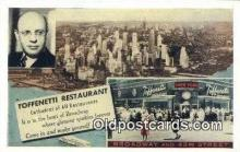 res050257 - Time Square Toffenetti Restaurant, New York City, NYC Postcard Post Card USA Old Vintage Antique