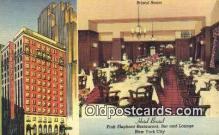 res050270 - Bristol Room, Hotel Bristol, Pink Elephant Restaurant, New York City, NYC Postcard Post Card USA Old Vintage Antique