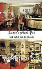 res050282 - Kenny's Steak Pub Restaurant, New York City, NYC Postcard Post Card USA Old Vintage Antique