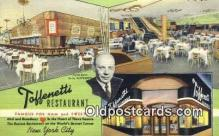 res050285 - Linen, Time Square Toffenetti Restaurant, New York City, NYC Postcard Post Card USA Old Vintage Antique
