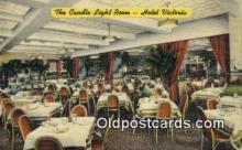 res050290 - Linen, Candle Light Room, Hotel Victoria Restaurant, New York City, NYC Postcard Post Card USA Old Vintage Antique
