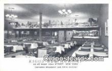 res050291 - 43 - 47 West 33rd Street, Riggs Restaurant, New York City, NYC Postcard Post Card USA Old Vintage Antique