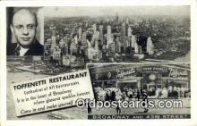 res050302 - Time Square, Toffenetti  Restaurant, New York City, NYC Postcard Post Card USA Old Vintage Antique