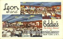 res050307 - Leon & Eddie's Restaurant, New York City, NYC Postcard Post Card USA Old Vintage Antique