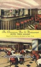 res050345 - Linen, American Bar & Restaurant, New York City, NYC Postcard Post Card USA Old Vintage Antique