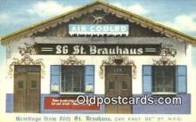 res050359 - Linen, 86th St. Brauhaus Restaurant, New York City, NYC Postcard Post Card USA Old Vintage Antique