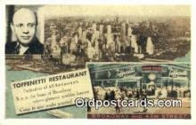 res050365 - Time Square, Toffenetti  Restaurant, New York City, NYC Postcard Post Card USA Old Vintage Antique
