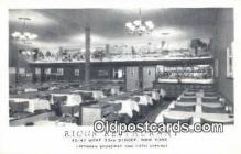 res050369 - Riggs Restaurant, New York City, NYC Postcard Post Card USA Old Vintage Antique
