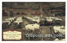 res050386 - Gallagher's Steak House Restaurant, New York City, NYC Postcard Post Card USA Old Vintage Antique