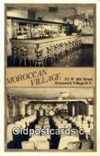 res050390 - Moroccan Village, Greenwich Village Restaurant, New York City, NYC Postcard Post Card USA Old Vintage Antique