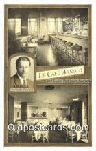 res050393 - La Café Arnold Restaurant, New York City, NYC Postcard Post Card USA Old Vintage Antique