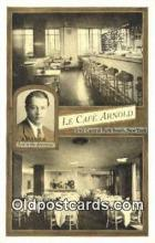 res050398 - La Café Arnold, Restaurant, New York City, NYC Postcard Post Card USA Old Vintage Antique
