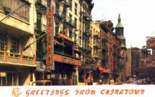 res100018 - Chinatown, New York, NY, USA, Chinese Restaurant Postcard Postcards