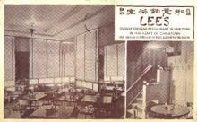 res100047 - Lee's, Chinatown, New York, NY, USA, Chinese Restaurant Postcard Postcards