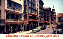 res100055 - Chinatown, New York, NY, USA, Chinese Restaurant Postcard Postcards