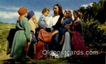 rgn100019 - Bethany Scene from the Black Hills Passion Play with Joseph Meier, Religion, Religious Postcard Postcards