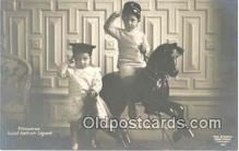 rho001005 - Child, Children, Rocking Horse Real Photo Postcard Postcards