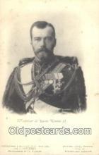 roy050019 - L'Empereur De Russie Nicolas II Misc. Royalty & Leaders Postcard Postcards