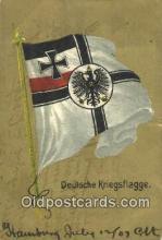 roy050043 - Deutsche Kriegsflagge Misc. Royalty & Leaders Postcard Postcards