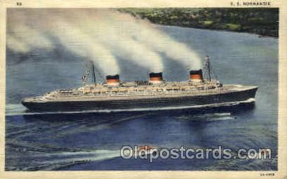 SS Normandie Ship Postcard