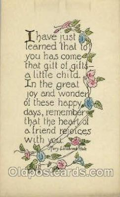 say001155 - Author Mary Estabrook Hale Sayings, Quotes, Postcard Postcards
