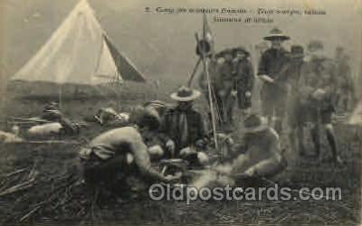 sct000070 - Camp des Eclaireurs Francais Boy Scouts, Scout, Scouting, Postcard Postcards