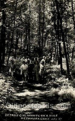 sct000101 - Detroit USA Girl Scouts, Scout, Scouting, Postcard Postcards