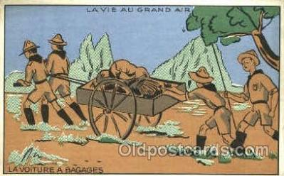 sct001062 - Lavie Au Grand Air Scout Scouting Postcard Postcards
