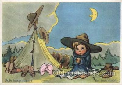 sct002002 - Scout Scouting Larger Continental size Postcard Postcards