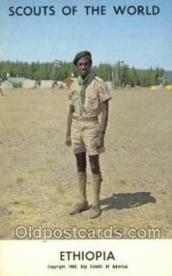 sct100107 - Ethiopia Boy Scouts of America, Scouting Postcard, Post Cards, Copyright 1968