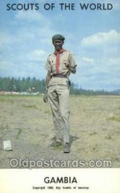 sct100111 - Gambia Boy Scouts of America, Scouting Postcard, Post Cards, Copyright 1968