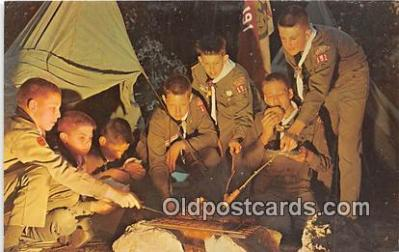 sct100153 - Over the Campfire Photo by Free Lance Photographers Guild, Inc Postcards Post Cards Old Vintage Antique