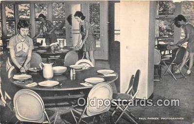 sct100156 - Dining Room, Manor House Rockwood Bethesda, Maryland, USA Postcards Post Cards Old Vintage Antique