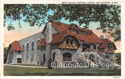 sct100157 - Boys Scouts Training Center San Antonio, Texas, USA Postcards Post Cards Old Vintage Antique
