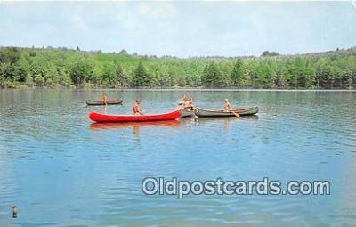 sct100162 - Canoeing Merit Badge Forrest Lakes Council BSA Postcards Post Cards Old Vintage Antique